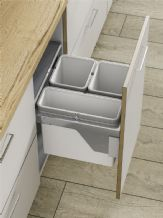 PULL-OUT WASTE BIN (Side Mounted) 56 litre capacity for 600mm wide cabinet (ECF IP2BIN63)